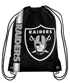 "Oakland Raiders drawstring backpack 12""X18"" 110g Knitted Polyester"