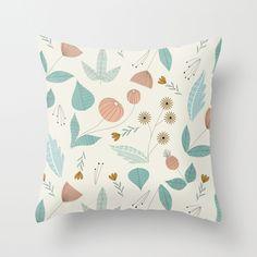 Floral Throw Pillow by Elizabeth Olwen | also at http://www.elizabetholwen.com