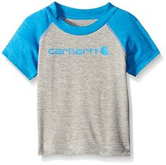 Carhartt Boys Force Raglan Tee Grey Heather Blithe 18 Months * You can get additional details at the image link.