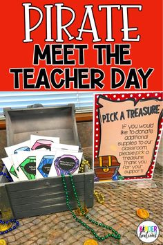 Argh! Do you do a Back to School Meet the Teacher or Kindergarten Open House? Your students will love following the treasure map to complete hands-on activities, get to know your classroom, and find the hidden treasure! Includes printables, decor, and activities to help you create an unforgettable day and to welcome students- pirate style!