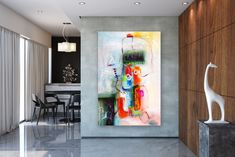 Wall painting tips can help DIYers get quality results. How to Paint a Room! Large Abstract Wall Art, Large Wall Art, Large Art, Oil Canvas, Canvas Wall Art, Oversized Canvas Art, Large Canvas, Bright Paintings, Abstract Paintings