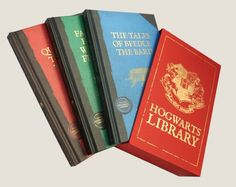 Hogwarts Library Official Box Set Harry Potter Collection Hardback - Boxed set of the complete Hogwarts Library, including Quidditch Through the Ages, Fantastic Beasts and Where to Find Them, and The Tales of Beedle the Bard