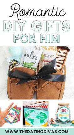 100 Romantic Gifts for Him - From The Dating Divas - DIY Romantic Gifts for Him- so many great ideas for an anniversary gift, romantic birthday present, Valentine's day gift, or just because for the boyfriend of husband. From The Dating Divas - Diy Gifts For Boyfriend Just Because, Diy Gifts Just Because, Boyfriend Gifts, Funny Boyfriend, Diy Gifts For Boyfriend Christmas, Diy Presents For Boyfriend, Surprise Boyfriend, Ideal Boyfriend, Boyfriend Ideas