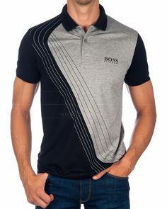 【HUGO BOSS © polo for men】 - Women's style: Patterns of sustainability Polo Shirt Design, Polo Design, Polo Shirt Outfits, Mens Polo T Shirts, Camisa Polo, Ralph Lauren, Black Polo Shirt, Big Men Fashion, Pull