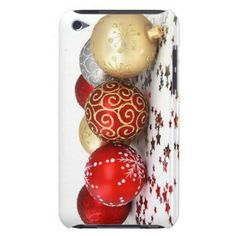 Christmas tree ball ornaments barely there iPod covers