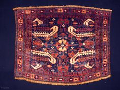 Kurd bagface Size: 69x54cm (2.3x1.8ft) Natural colors, full pile, made in circa 1910