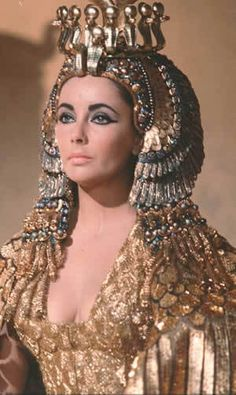 2 in 1, Liz portraying Cleopatra!  She is what we want Cleopatra to look like.