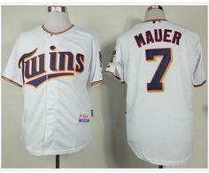 Minnesota Twins #7 Joe Mauer White Home Cool Base Stitched Baseball Jersey