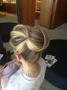 High wedding bun up do