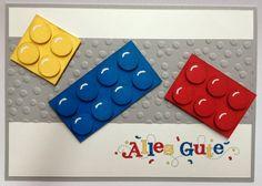 Willkommen im Bastel-Wunderland: Lego-Karte