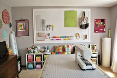 Sewing Room Ideas | made sure to take some pictures of my sewing room while it was all ... i love this set up