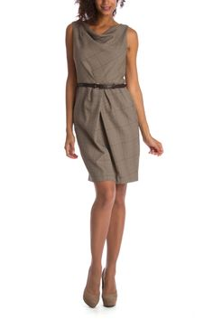Chetta B Tegan Dress In Brown & Beige - Beyond the Rack