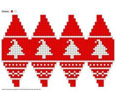 Knit Christmas Ornaments, Crochet Christmas Gifts, Diy Christmas Presents, Christmas Toys, Christmas Projects, Fair Isle Chart, Christmas Knitting Patterns, Beaded Cross Stitch, Knitting Charts