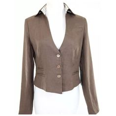 "São Paulo Brown Linen Crop Jacket 14 $299 Sao Paulo Brown Linen Jacket  Size 14  Retail $299  Great jacket.  Chocolate brown, 100% linen and fully lined.  3 buttons down the front.  Striped inside collar.  Fully lined. This is a really beautiful jacket that photos just don't capture.  All measurements are taken with garment laying flat.   Armpit to armpit 45""  Shoulder to shoulder 20""  Sleeve length 25.5  Length 25"" Sao Paulo Jackets & Coats"
