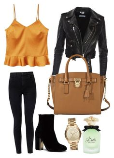 """Outwear"" by pollyanna29 ❤ liked on Polyvore featuring J Brand, MICHAEL Michael Kors, MANGO, Michael Kors and Dolce&Gabbana"