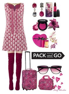 """""""#593 Pack & Go - Mexico City: 21/04/16"""" by pinky-chocolatte ❤ liked on Polyvore featuring White Stuff, Casetify, MAC Cosmetics, FACE Stockholm, Prada and Rockland Luggage"""