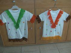 nous avons fait ces costumes d'indien pour aller au carnaval