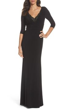 Main Image - Adrianna Papell Embellished Shirred Gown
