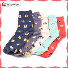 Honesty 2018 High Quality New Lovely Cartoon Women Panda Pattern Socks Cotton Sox Japanese Fashion Style Socks Warm Breathable Socks Crazy Price Women's Socks & Hosiery Underwear & Sleepwears