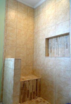 Modern shower tile by Link Renovations #linkrenovations