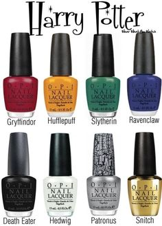 OPI Nail Polish colours inspired by the Harry Potter film franchise ~ i need this.