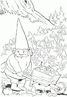 gnomes coloring pages   David the Gnome Coloring Pages - ColoringPagesABC.Com