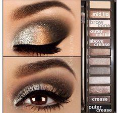 Make-Up Look für Silvester, wäre das nicht eine Idee? Kreiert mit der UD Naked 2 Palette.
