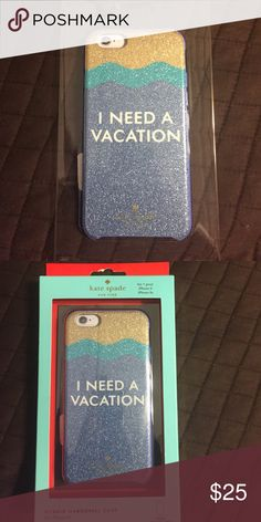 """🔥Kate Spade """"I Need A Vacation"""" iPhone 6/6s Case Kate Spade """"I Need A Vacation"""" Hybrid iPhone 6/6s Case. New in box, never used. kate spade Accessories Phone Cases"""