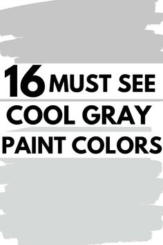 There's no doubt gray paint colors are a popular choice for interior walls. Cool gray paint colors are relaxing and calming. There are 16 of the best Sherwin Williams Cool Gray paint colors.#coolgray #paintcolors #graypaint #interiordesign #grayshades Soothing Paint Colors, Light Grey Paint Colors, Best Gray Paint Color, Popular Paint Colors, Paint Colors For Home, Calming, Neutral Paint, Valspar Gray Paint, Interior Walls