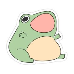 Stickers Kawaii, Anime Stickers, Cool Stickers, Animal Drawings, Cute Drawings, Frog Wallpaper, Frog Drawing, Frog Pictures, Frog Art
