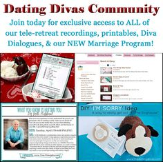 Our Dating Divas Community is REVAMPED. Get MORE exclusive printables, access to our Marriage Masters Program, access to all of our tele-retreat recordings with marriage experts, and MORE! www.TheDatingDivas.com #dating #marriage #intimacy