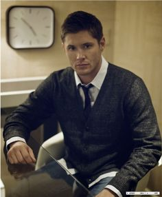 This picture is for two of my favorite things, men in cardigans and the show supernatural :-)