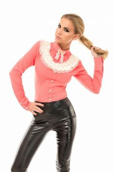 Camasa Dulce Corai- www.zonia.ro Atmosphere Fashion, Leather Pants, Valentines, Collection, Leather Jogger Pants, Valentine's Day Diy, Leather Joggers, Valantine Day, Valentine's Day