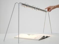 #LED aluminium table #lamp RIMA by Dreiplus | #Design by Matthias Pinkert #light