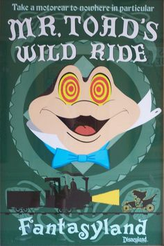 #Disney_Attraction_Posters #FANTASYLAND #Mr_Toads_Wild_Ride