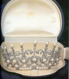 A close up of the tiara worn by Princess Maria Gabriella of Savoy in the previous pin.