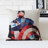 "Product name: Cushion Cover   Size: 45 cmx 45 cm ( 17.7"" x 17.7"")   Material: Cotton/Linen   Hidden"
