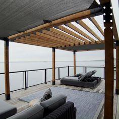 Pergola Diy, Gazebo, Pergola Shade, Outdoor Pergola, Pergola Ideas, Porch Area, Shade Canopy, Getaway Cabins, Outdoor Living