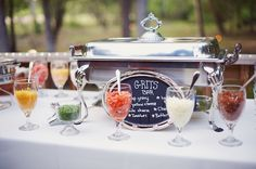 Southern wedding - grits bar _ I covet everything this child did for her wedding and reception...!