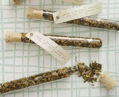 Love these test tube tea favors from Indie Fixx! (via tabitha emma http://tabithaemma.com/wedding-wednesday-favours/)