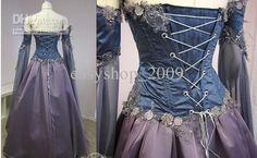 Medieval Wedding Gowns   Wholesale Medieval Wedding Dress LOTR Renaissance Fantasy Gown LARP ...