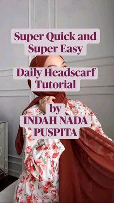 Pashmina Hijab Tutorial, Turban Tutorial, Hijab Style Tutorial, Hijab Style Dress, Hijab Wear, Hijab Outfit, Street Hijab Fashion, Muslim Fashion, Model Kebaya
