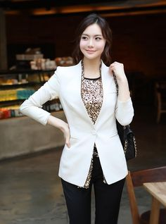 2013 New Arrival Fashion Office Lady Formal Women Blazers Suits Long Sleeve Work Wear Autumn Plus Size Free shipping-in Blazer & Suits from Apparel & Accessories on Aliexpress.com