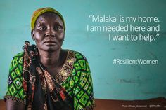 Achol, a nurse focused on building a future in South Sudan despite the conflict @Muse_Mohammed @DTM_IOM #ResilientWomen
