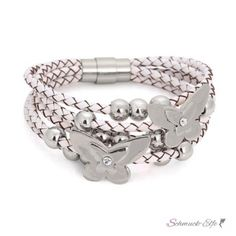 ECHT Lederarmband weiß Schmetterling  Edelstahl Perlen &... @EasiestFun @ezpopsy #follower #following #Accessories #Jewelry #Crafts #Necklace #style #Fashionwomen #women #2016 #girls #sexy
