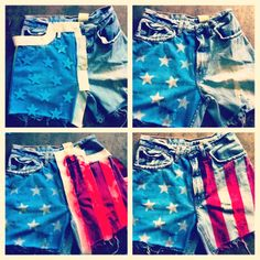 Let's make matching 4th of July shorts! (And this year we are gong not spend it with you;)