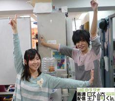 岡本信彦さんと小澤亜李さん。 隔週配信野崎くん、より。