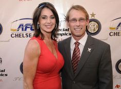 Former Olympic gymnasts Nadia Comaneci, left, and husband, Bart Conner ...