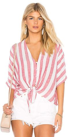 f5d08f25c2c5 Shop for Rails Thea Tie Front Button Up in Seville Stripe at REVOLVE. Free  day shipping and returns
