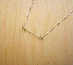Tiny Golden Arrow Charm Necklace £14.00